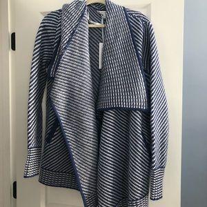 Southern Tide Blue + White Pattern Cardigan